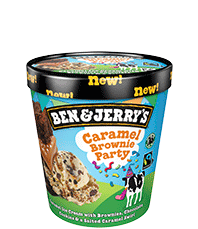 Caramel Brownie Party Original Ice Cream Pint